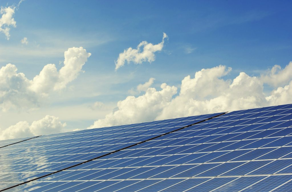 solar panels philippines blue sky