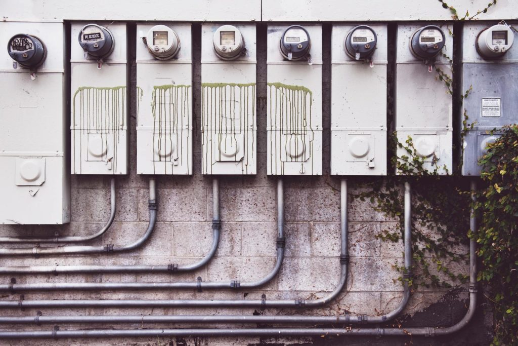 electric meter wall